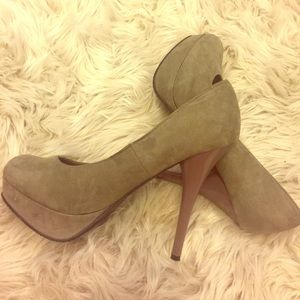 Mossimo Gray Suede Stiletto Heels
