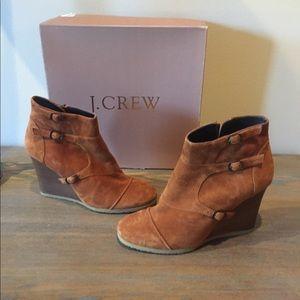 J.Crew wedge booties.