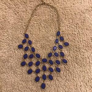 Dark blue fashion necklace