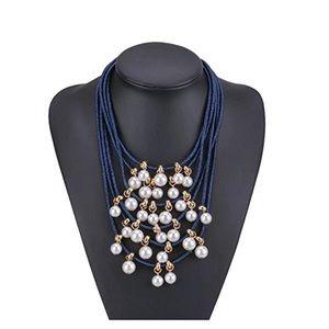 Multilayered Imitation Pearls Choker