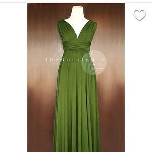 Dresses & Skirts - Olive green Multi Wrap maxi dress