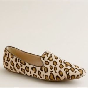 J.Crew Collection Darby Leopard Loafer Flats 8.5