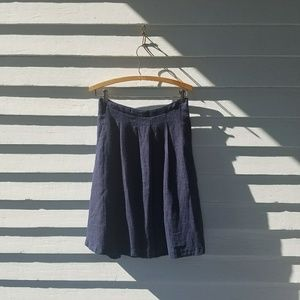 Everly Linen Pleated Skirt