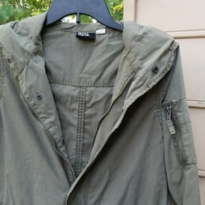 BDG Olive Green Utilty Anorak Hooded Jacket