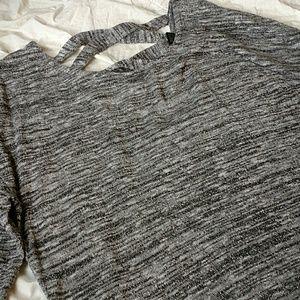 Lane Bryant criss cross back gray sweater