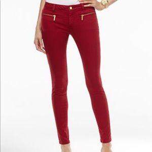 Women's 14 Red Michael Kors Izzy Skinny Jeans💋✨