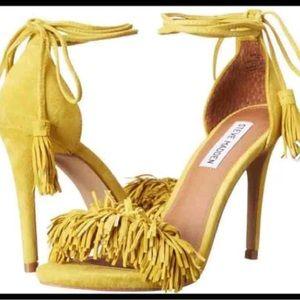 Steve Madden fringe heels.