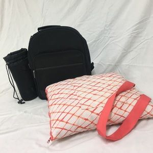 Handbags - Picnic set in a backpack and blanket