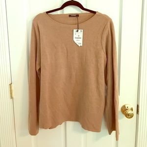 Camel colored bell sleeve Zara sweater