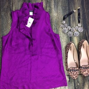 🆕J.Crew pleaded purple top