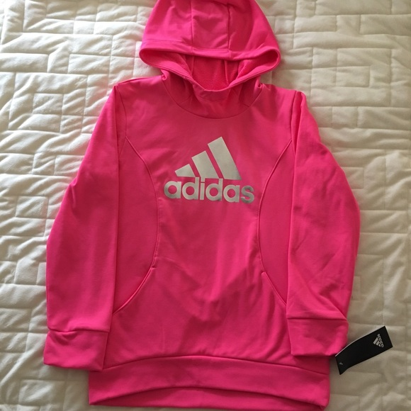 Adidas Shirts Tops Hoodie Girls In Pink Size 1012 Medium Poshmark