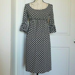 Max Studio XS Black/Cream Pattern Dress