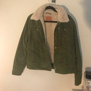 Green Corduroy Levi Jacket