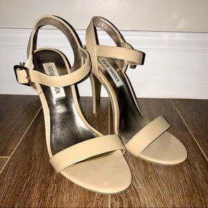 Steve Madden nude sandal heels