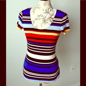 Vince Camuto colorful striped top