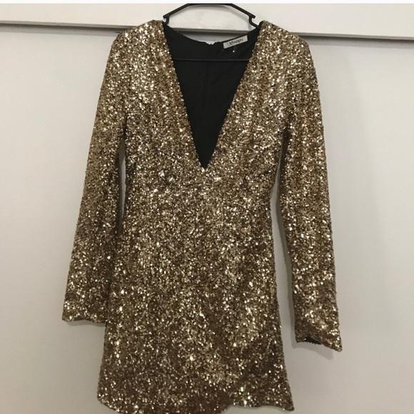79dd3491af ... gold sequin mini dress. M 59c93cd356b2d623cf07a1c0