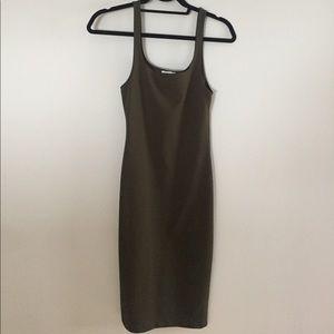 Olive green Zara Tank Dress