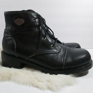 Harley side zip Boots Womens 9.5 Biker Leather