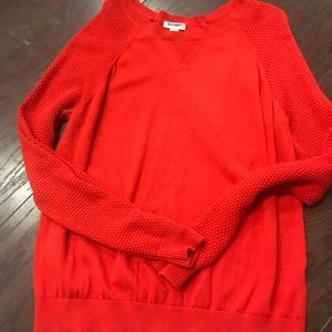 Red/Orange Old Navy knit sweater.