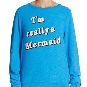 WILDFOX really a mermaid sweater M
