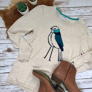 Old Navy Cotton Blue Bird Sweater Crew Neck Size M