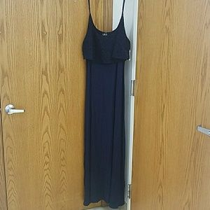 Navy Blue Boho Dress 3X from Deb NWT