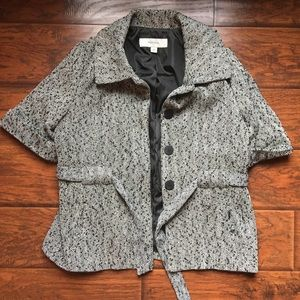 Merona Black and White Short Sleeve Blazer