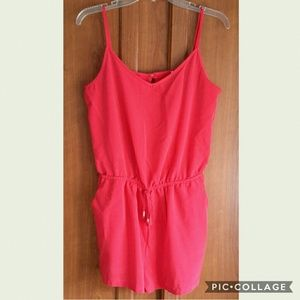 Red Romper Shorts One Clothing Size Large