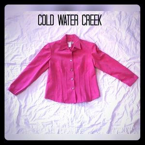 Coldwater Creek Pink Faux Suede Blazer Size 8P