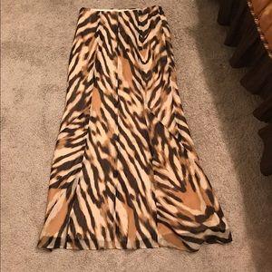 New York & Company Skirts - New York and company animal print maxi skirt