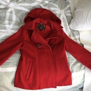Guess pea coat with detachable hood