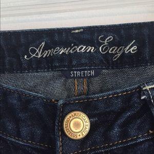American Eagle dark stretch skinny jeans sz 8 long