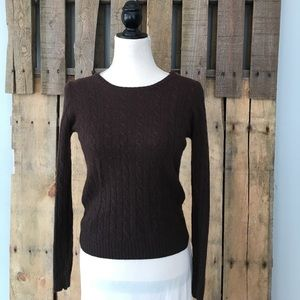J. Crew Wool/cashmere blend cable knit sweater