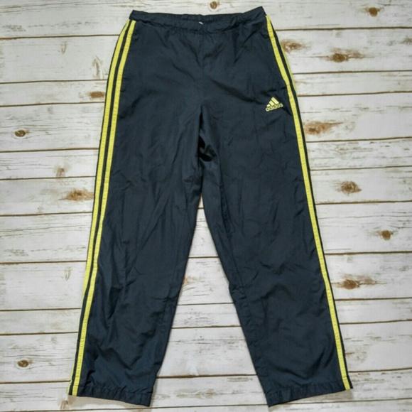 Adidas Grey and Yellow Track Warm Up Pants