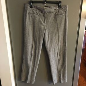 Ann Taylor Loft Marisa Cropped Houndstooth Pants 4
