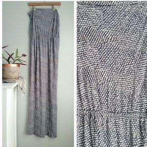 Joie | Dalila Blue Printed Maxi Dress Large