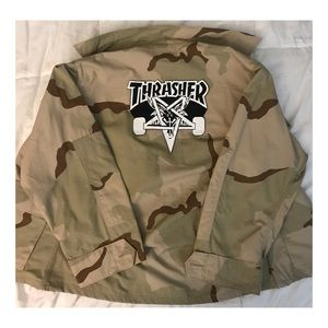 Other - Army Jacket Tan with Thrasher Logo on the Back.