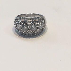 Tacori Sterling silver diamonique ring size 7.25