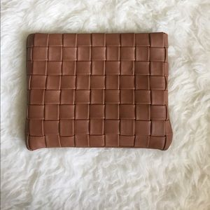 Merona woven faux leather clutch