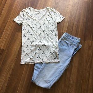 Longhorn Print t shirt