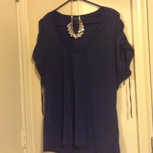 NWOT BCBG Max Azria blouse navy blue
