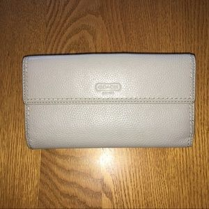 Light gray large coach wallet