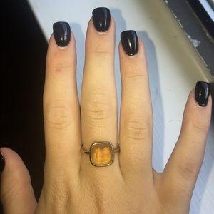 Gold MK Ring