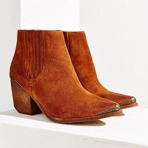 Jeffrey Campbell Rawlins Ankle Booties in Brown