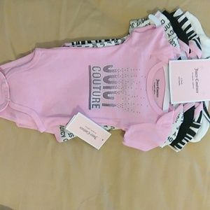 5 pack baby onesies JUICY COUTURE
