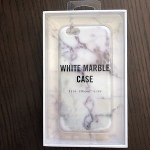 New White Marble Case (iphone 6,7,8)