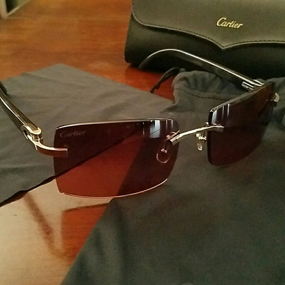 Cartier Accessories Authentic Mens C Decor Sunglasses Poshmark
