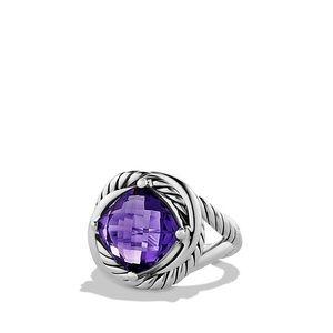 David Yurman Amethyst Infinity Ring