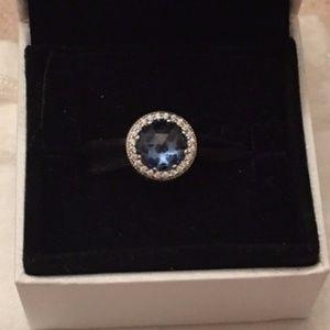 Radiant heart pandora charm in moonlight blue