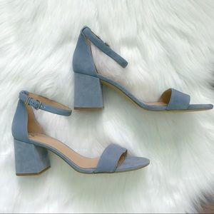 Gianni Bini Block-Party Stephani Blue Suede Heels